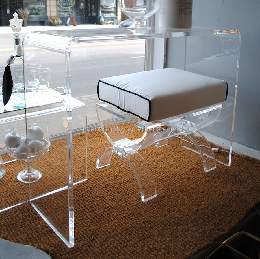 Transparent Acrylic Furniture Set Makeup Dressing Table And Chair Set   Buy  Acrylic Furniture,Makeup Table And Chair,Dressing Table And Chair Product  On ...