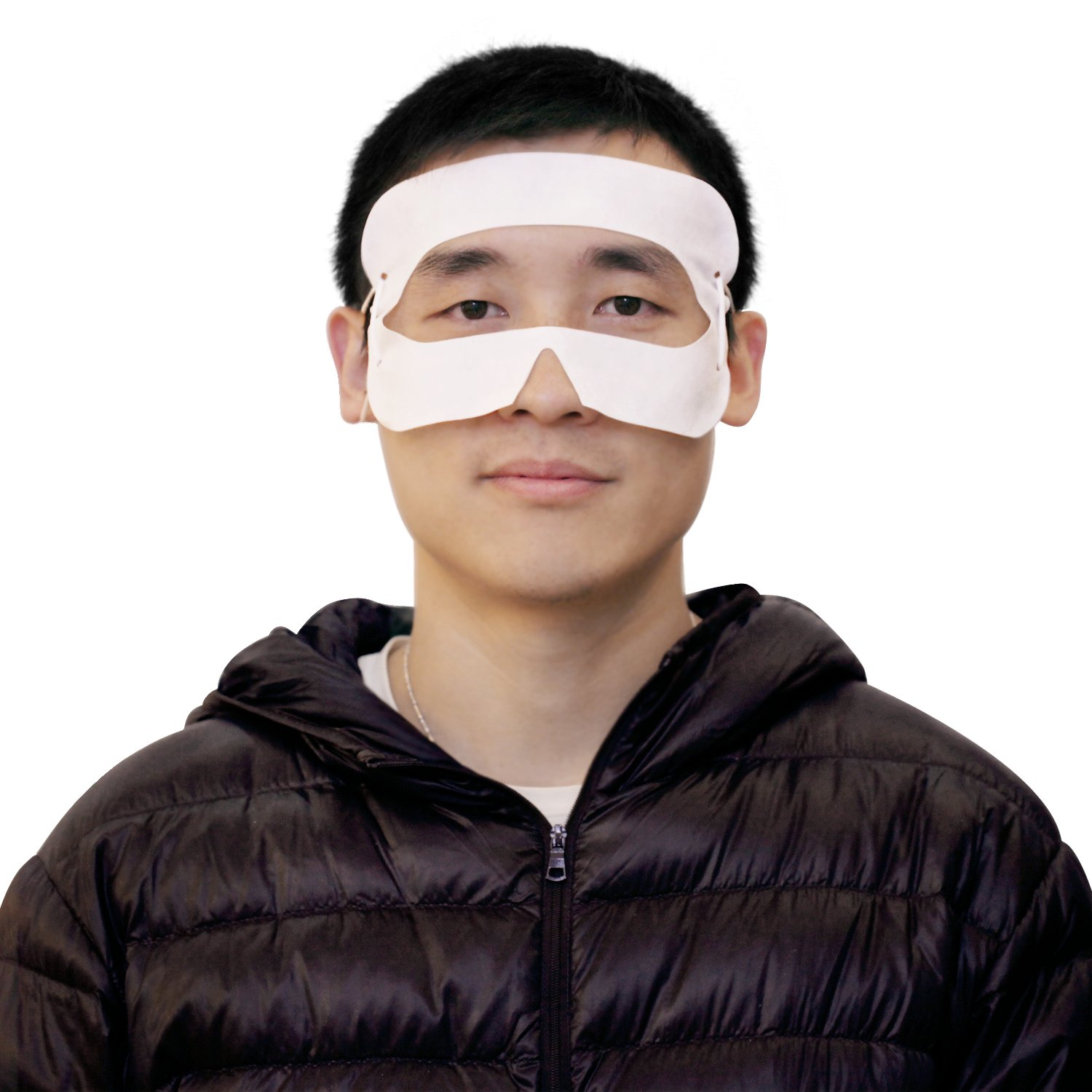 [100 Pcs] LUPHIE Universal Disposable Hygiene Eye Mask Head Mounted Display Sanitary Cover for Gear VR/ Oculus Rift /HTC Vive/ PlayStation VR Headset