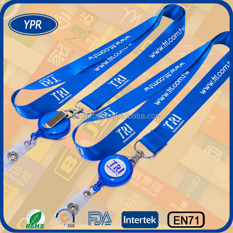wholesale square retractable lanyard id badge holder for create your own brand