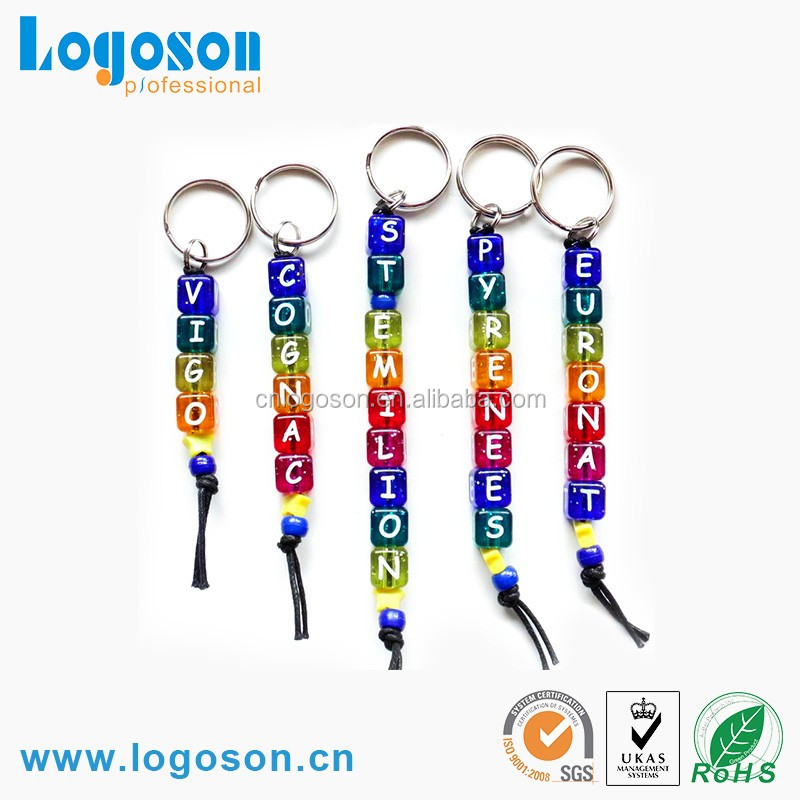 Special letter dice shape acrylic key chain for promotion gifts