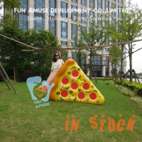 New decoration pizza air bed design inflatable donut pool float