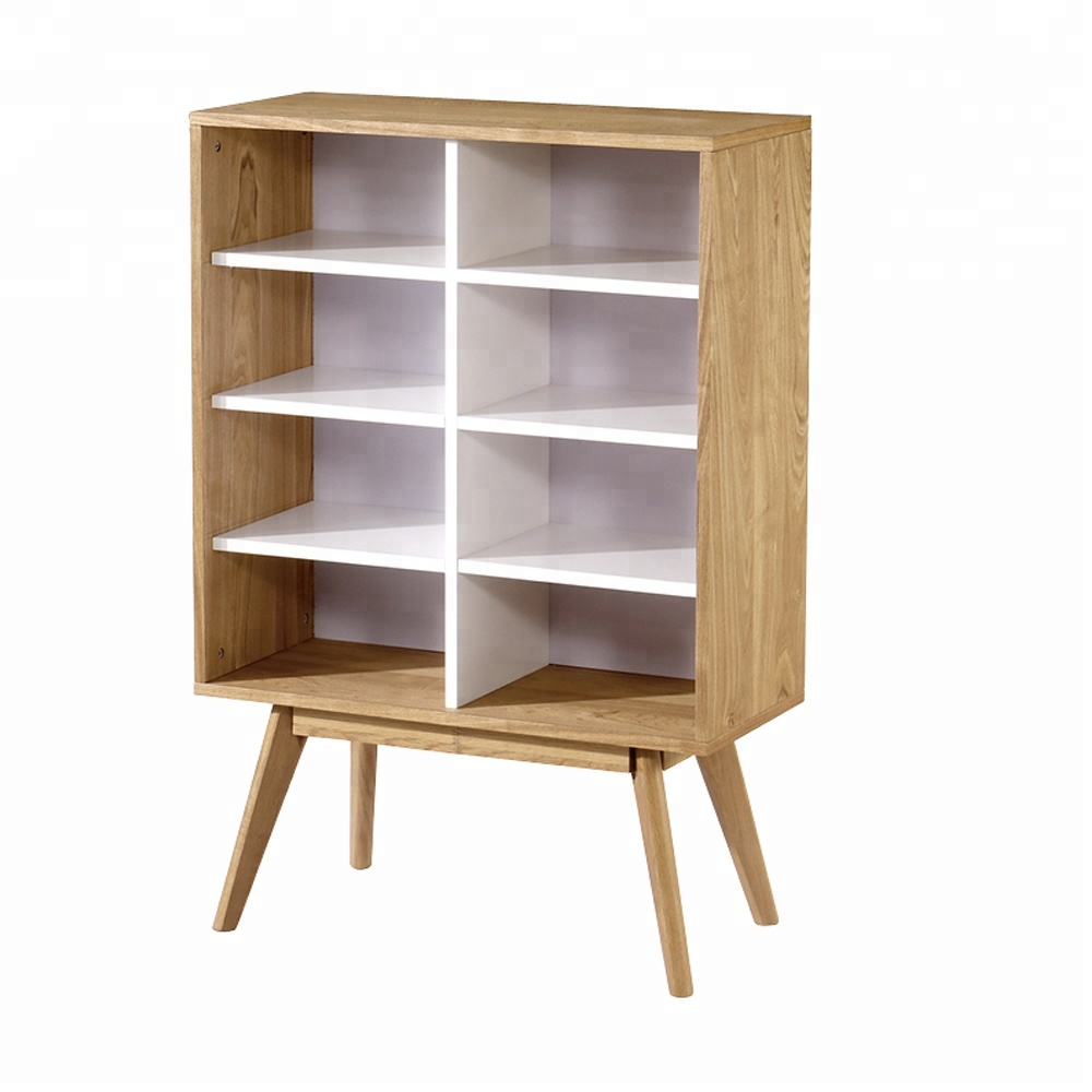 French style furniture high storage cabinet modern wood bookcase