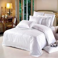 wholesale 600TC 100%cotton hotel bedding linen sets,white plain jacquard bed sheet,duvet cover,pillow case