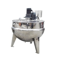 industrial size cooking pots tiltable interlayer boiler 600l double jacket kettle