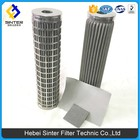0.35-0.70mm thickness SS weaving wire mesh stainless steel sintered fiber pleated filter elements