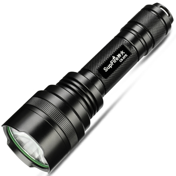 SupFire C8-XPE LED rechargeable riding long range flashlight for outdoor camping