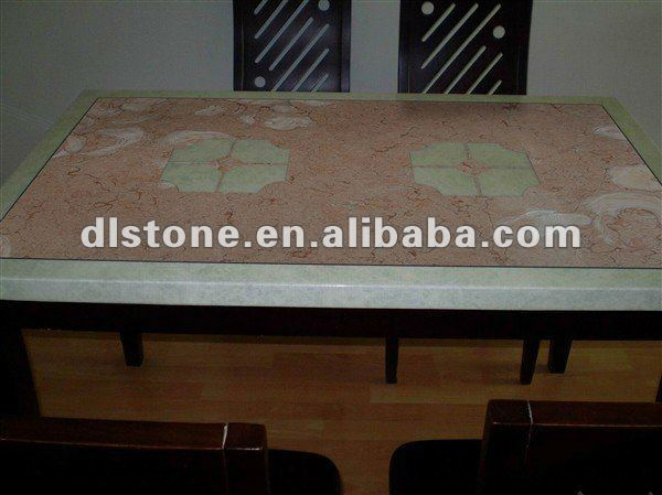 Fossilous Beige marble dining table