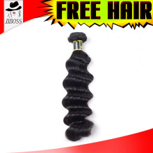 Best selling Raw black hair with blonde highlights, wholesale rebe hair, unprocessed bijoux hair weave