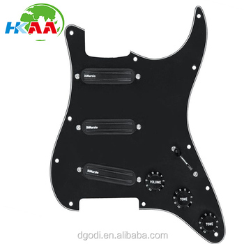 High Precision Customized White Black Color Pickguard For Jazz Bass