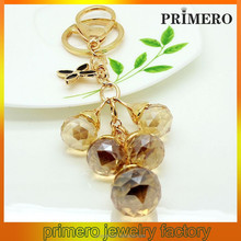 PRIMERO Crystal Ball strings Keychain Gold-plated zinc alloy Keychain crystal ball keychains