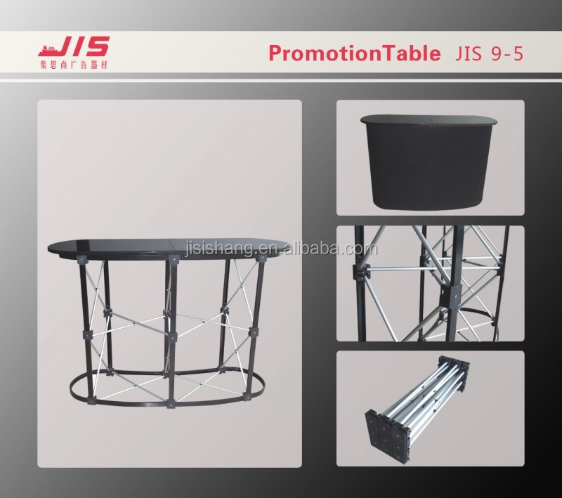 Jis9-5,Aluminum Arc-shaped Pop Up Promotion Counter Booth
