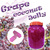 Grape coconut jelly