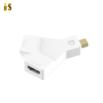Support 3D 4K 2 IN 1 DP Adapter Mini Display Port o VGA HD MI Converter Built-in The Latest DP1.2 Chipset
