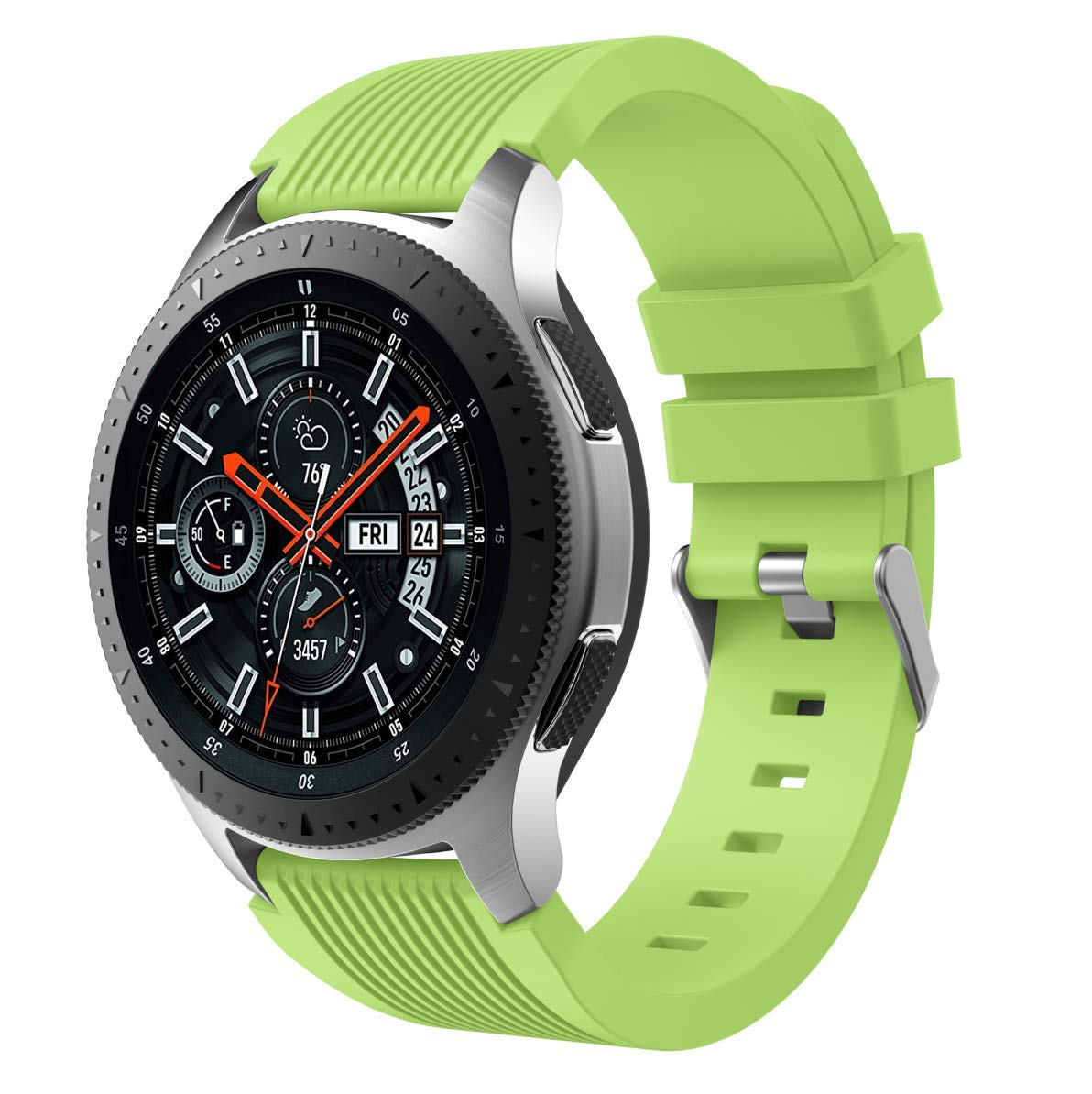 Watch Band for Samsung Galaxy Watch, MoreToys 22MM Silicone Replacement Accessory Wristband Watchband for Samsung Galaxy Watch 46MM Version (Green)