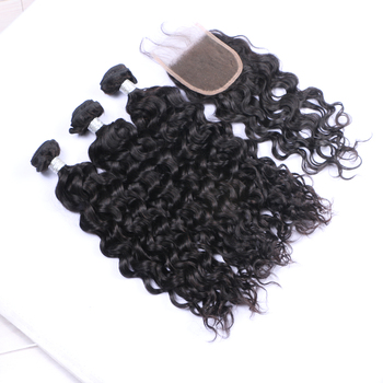 May Queen brazilian hair bundles with closure water wave hair brazilian virgin hair vendors paypal accept