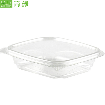 Easy Green Transparent Plastic PLA Raw Material Biodegradable Tableware Food Box Disposable Salad Container