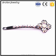 Wholesale China Factory Multi Colors Crystal Bow Knot Hair Pins Hair Clips For HA-929