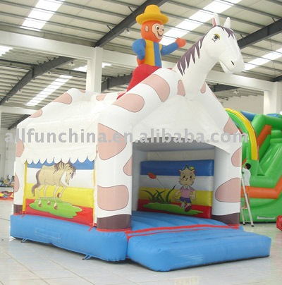 Inflatable cowboy bounce,inflatable horse riding bounce castle,inflatable jump castle