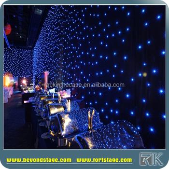 good quality led light black velvet curtains for dj booth