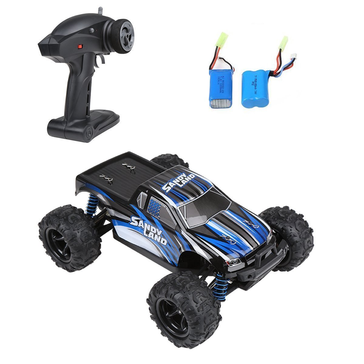 DTN 2.4Ghz 4WD Electric RC Car Offroad Remote Control Car 1:18 Scale 30MPH with an Extra 1200MAH Rechargeable Battery