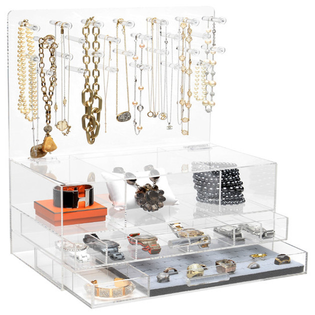 Hot sale high quality clear acrylic jewelry box