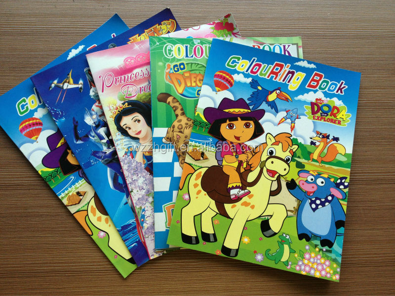a3 hard cover cartoon printed children coloring book - Printing With Children