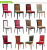 Wholesale upscale modern dining imitated wood chairs