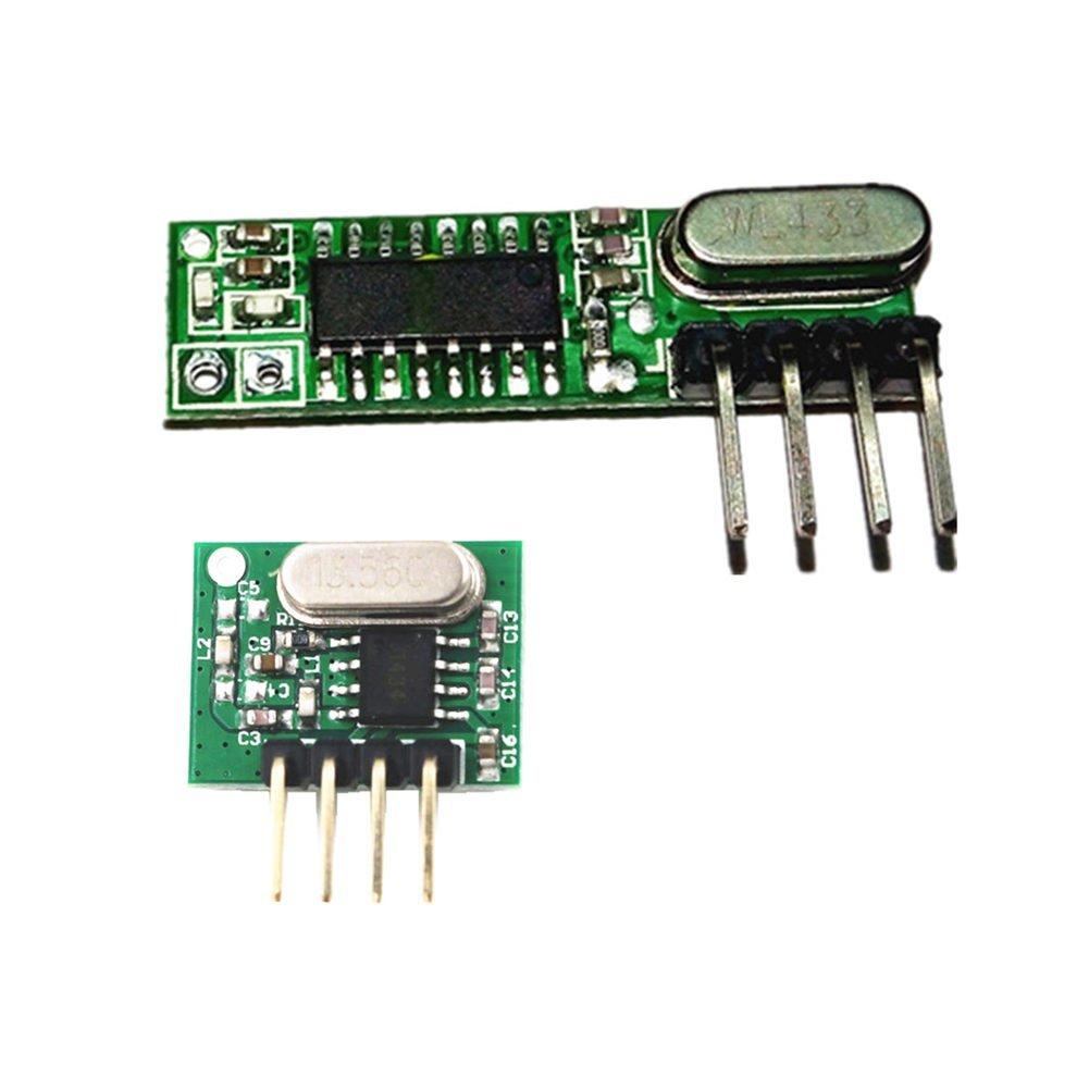 QIACHIP 433mhz Superheterodyne Rf Wireless Transmitter and Receiver Kit