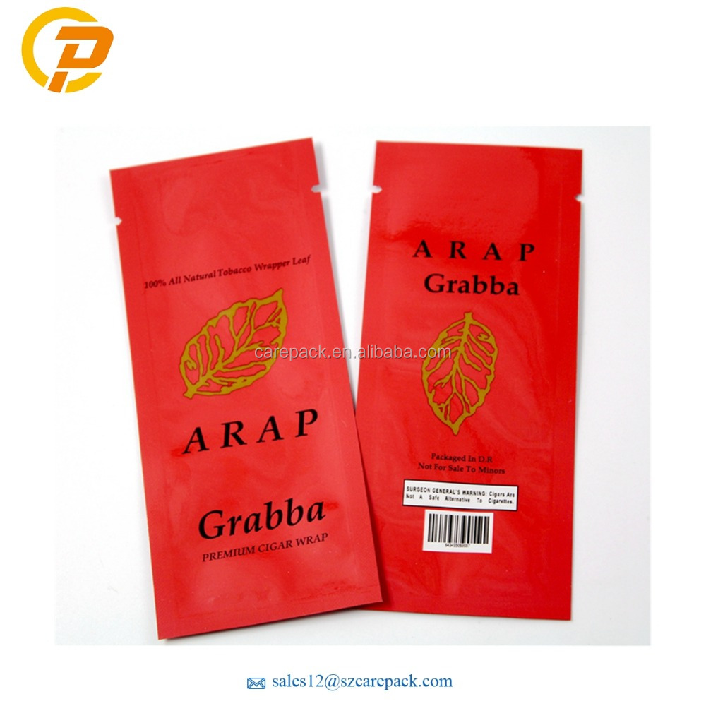 Custom Printed 3 Sides Sealing Sachet Tobacco Foil Packaging