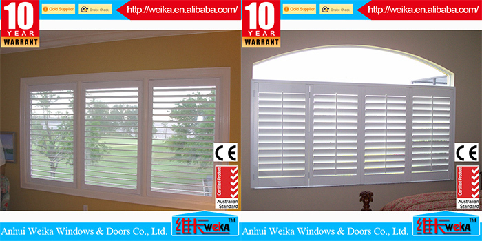 2015 new style plantation shutters casement windows