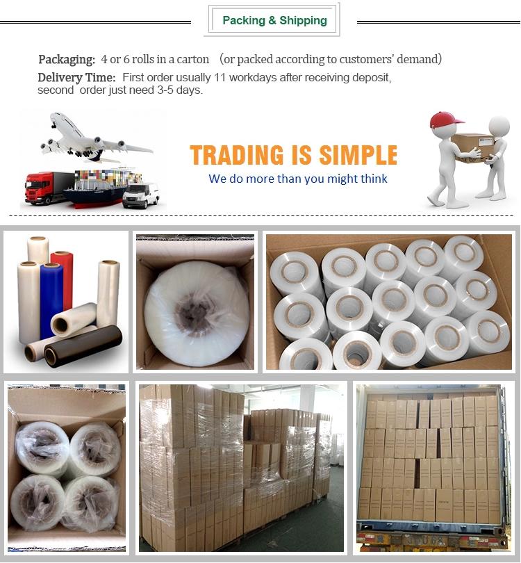 Großhandelsqualitäts-PE klare Stretchverpackung schützende Jumbo-Rolle Plastikabdeckfolie