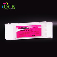 Ocbestjet Compatible Ink Cartridge Full With Eco Solvent Ink For EPSON SC S50680 Printer Ink Cartridge 700ML/PC