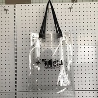 Wholesale Stylish Waterproof Transparent Clear PVC Beach Tote Bag