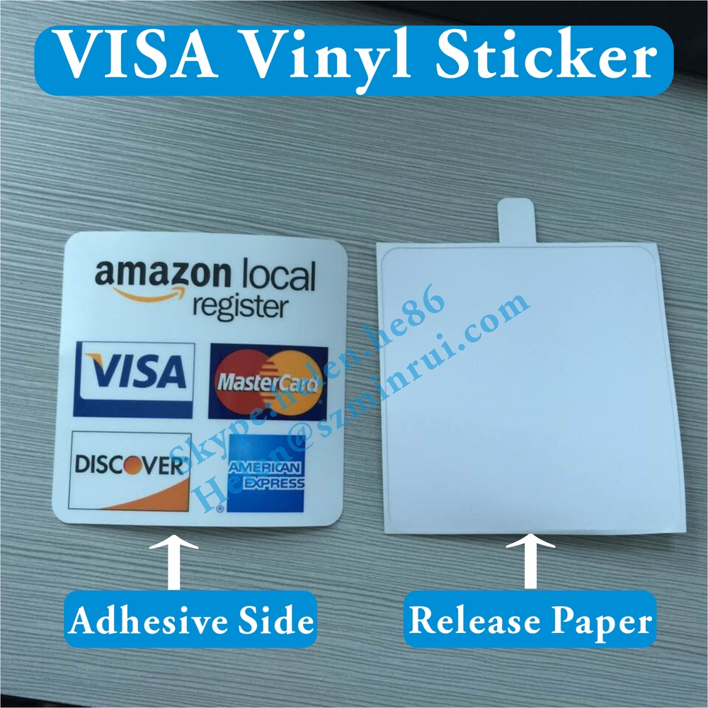 Custom Double Side Printed Mastercard Vinyl Stickers For ...