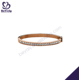 Thin size cubic zircon jewelry gold rose bangle