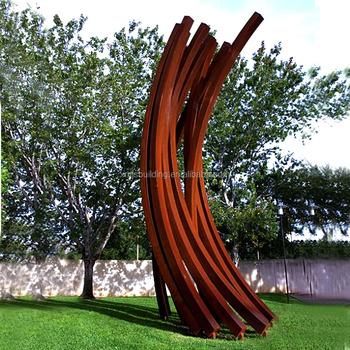 Large Fashion Corten Steel Contemporary Metal Sculpture Modern