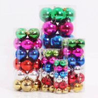 2015 summer style christmas light ornament decoration family plastic ball 6cm best price top sale
