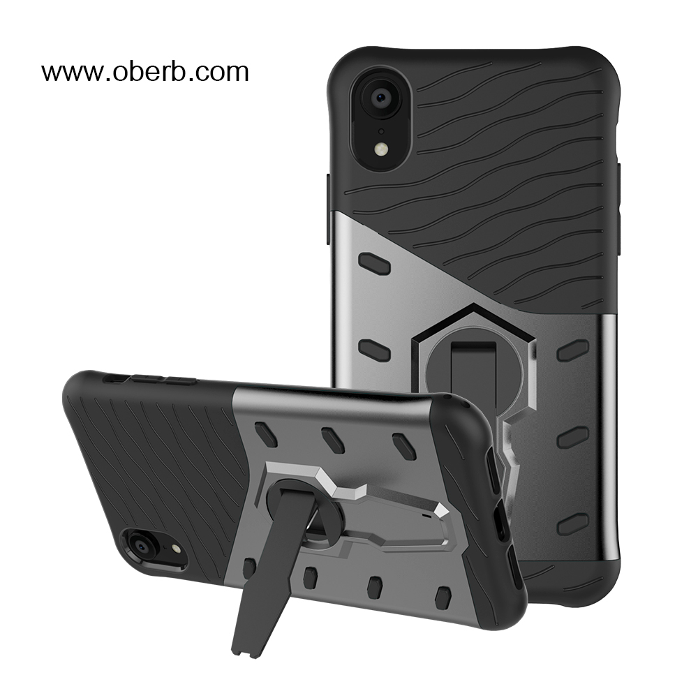 Mobile phone <strong>accessories</strong> cover tpu pc armor case man armor cover case hybrid, For apple iPhone Xr 6.1 inch kickstand case