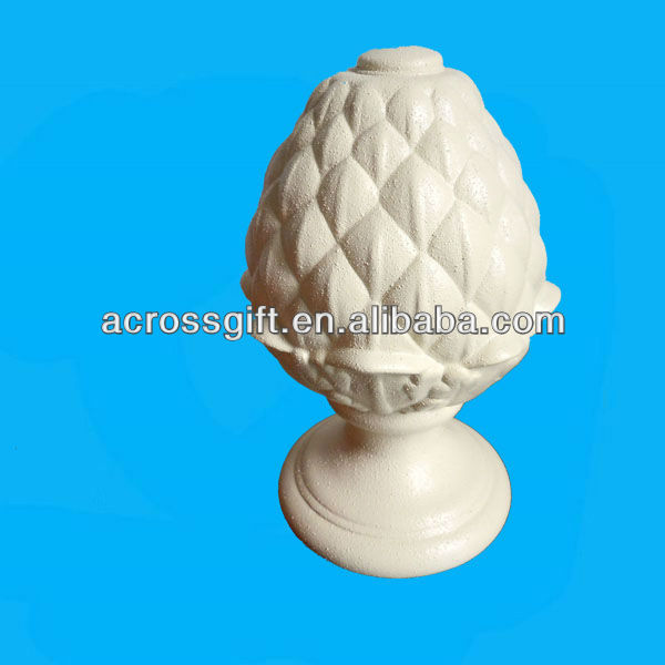 Turned Candle Holder Ceramic Pineapple Home Decoration