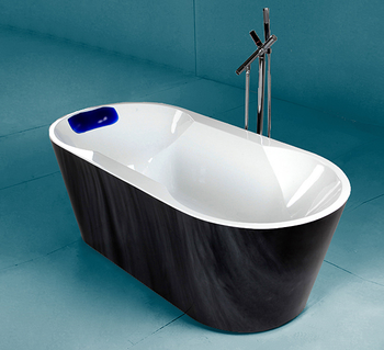 Black Color Free Standing Bathtub With Cheap Corner Shower Buy