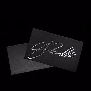 Silver brushed aluminum foil luxury embossed business card printing silver brushed aluminum foil luxury embossed business card printing reheart Images