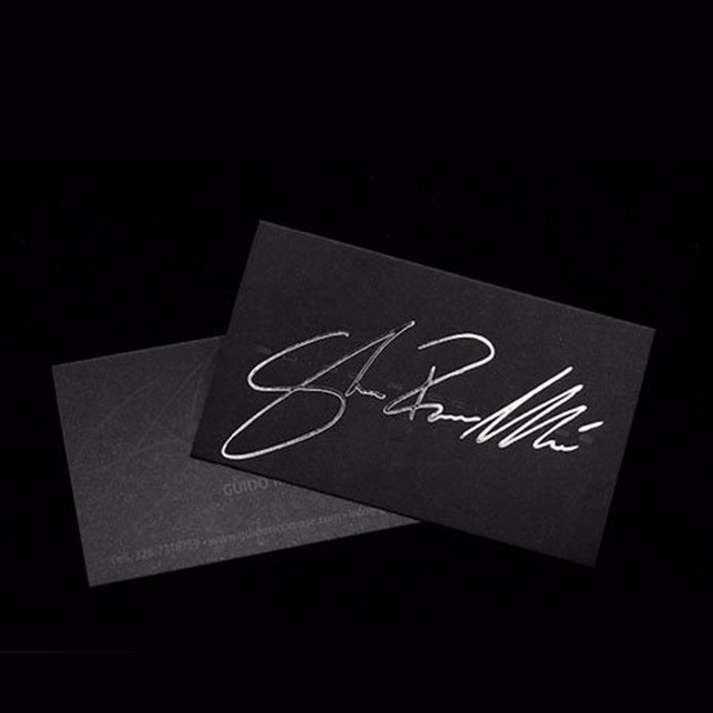 Emboss business card printing source quality emboss business card silver brushed aluminum foil luxury embossed business card printing colourmoves