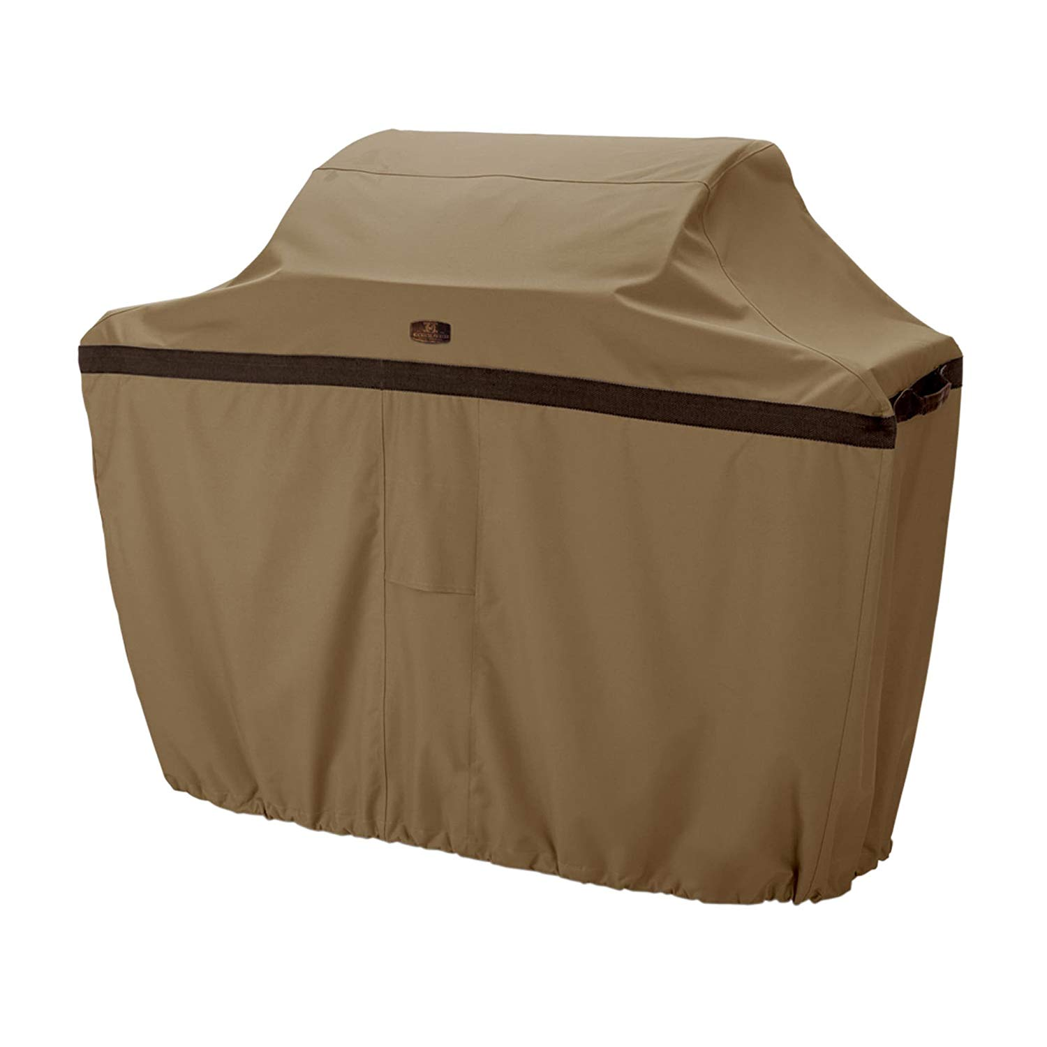 Ln 1 Piece Brown Outdoor Camping Grill Cover 64 Inch, Water Resistant BBQ Cover Waterproof Small Durable Patio Barbecue Cover Heavy Duty Material Elastic Hem Cord Padded Handles, Fabric