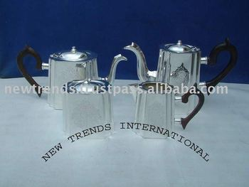 silver plated coffee sets, brass tea set, tea pot, coffee set, tea set