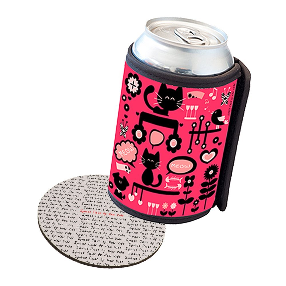 Space Case by New Vibe Can Cooler Koozie - Kitty Cat Kitchen