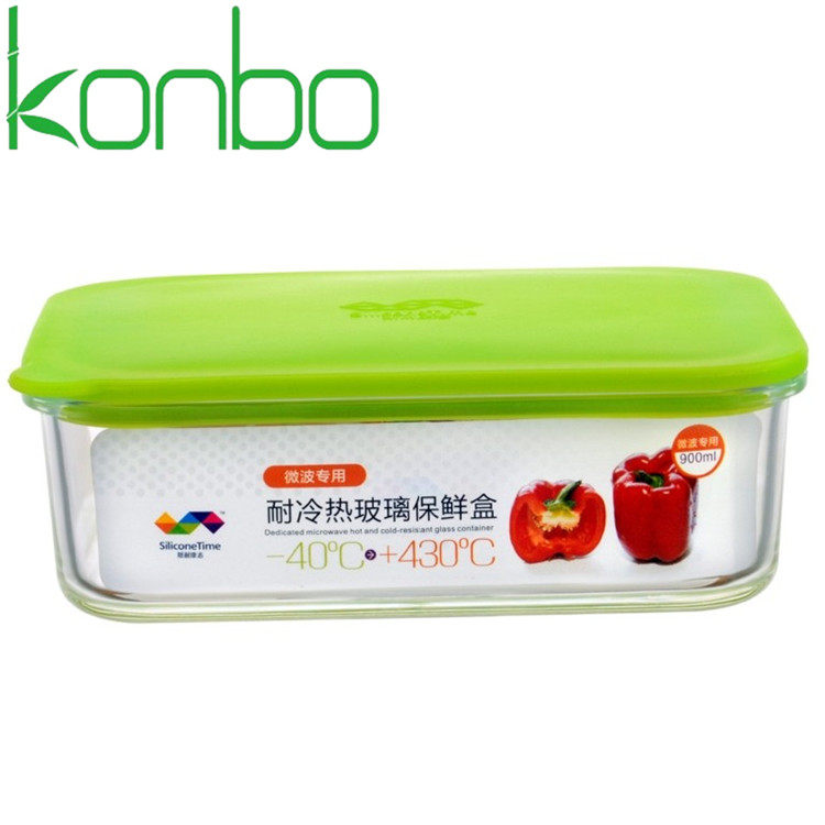 Rectangle Glass Food Container With Silicone Lid Buy Food