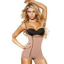 Women slimming braless open crotch full body shaper in boyshort