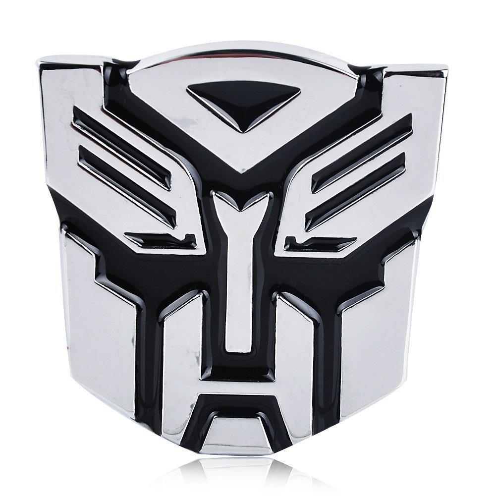 Autobot Chrome Finish PVC Car Auto Emblem 5 Tall