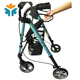 Mobility Aluminum Foldable Adult Drive Medical Four Wheel Walker Rollator