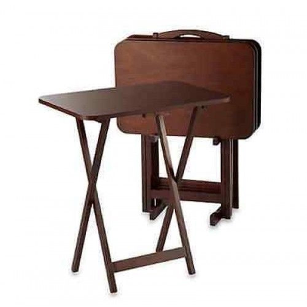 Buy New Expanding Tray Table Tray Table Set 5 Piece Folding Tables Wood Game Snack Craft Dinner Serving In Cheap Price On Alibaba Com